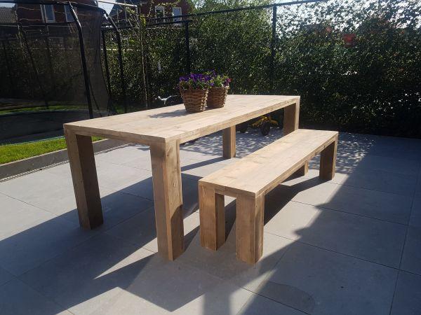 tafel/bank gebruikt steigerhout 12