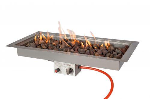 Inbouwbrander Easy fires rechthoek groot 3