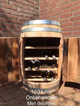 28750 wijnkast 150 liter met deur onbehandeld 1