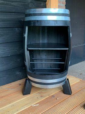 28750 wijnvat 225 liter zwart zonder deur 1