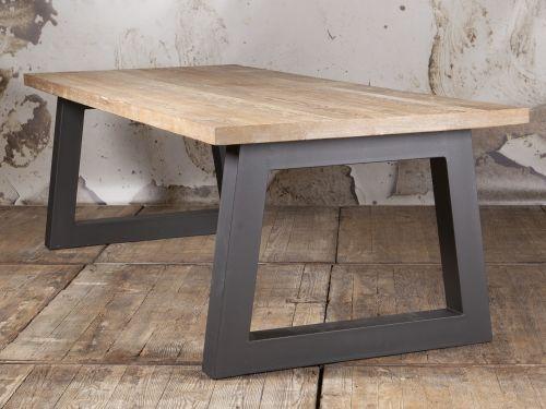 Trapezium poot tafel steigerhout