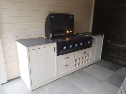 Boretti barbecue meubel wit