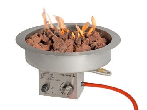 Inbouwbrander Easy fires rond groot