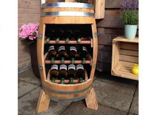 Wijnkast van wijnvat